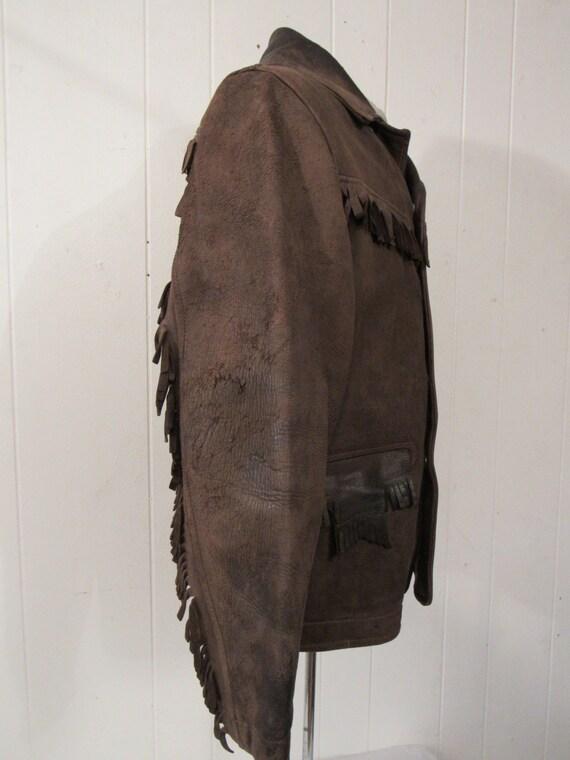 Vintage jacket, leather jacket, fringe jacket, we… - image 5