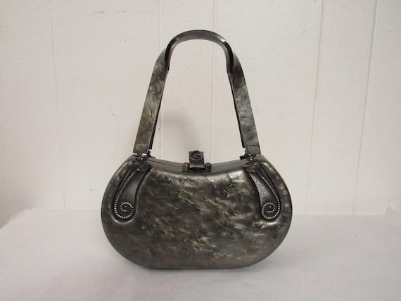 Vintage purse, Lucite purse, 1930s purse, plastic