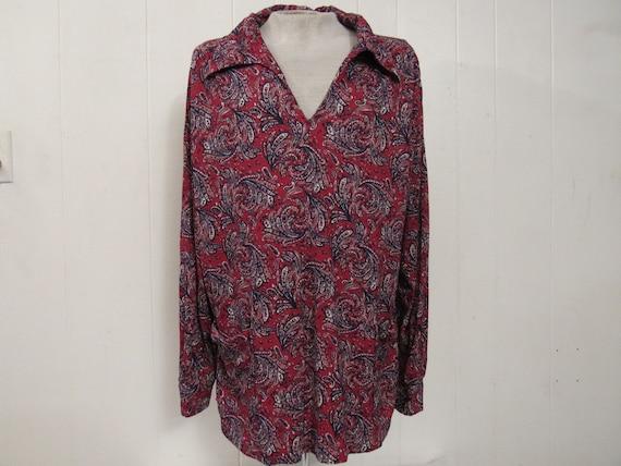 Vintage shirt, 1970s shirt, Disco shirt, retro shi
