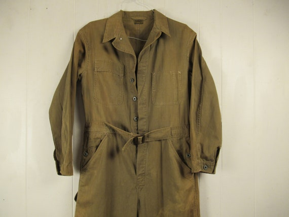 Vintage coveralls, 1930s coveralls, Army Air Force