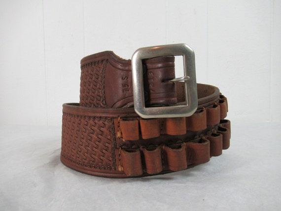 Vintage belt, bullet belt, leather belt, cowboy be