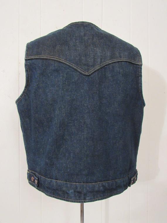 Vintage denim vest, vintage vest, cowboy western … - image 5