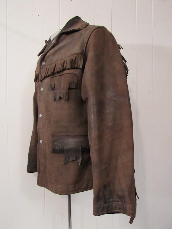 Vintage jacket, leather jacket, fringe jacket, we… - image 3