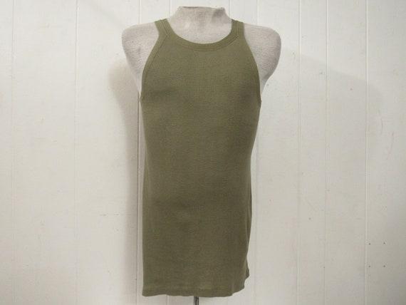 d8ce9b50cc672 Vintage t shirt 1940s t shirt Army shirt tank top muscle