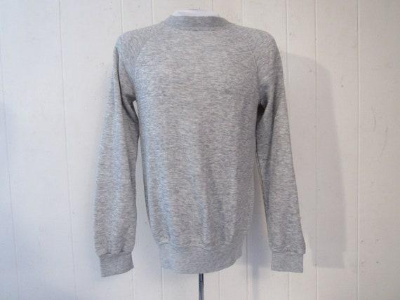 Vintage sweatshirt, 1960s sweatshirt, plain sweats