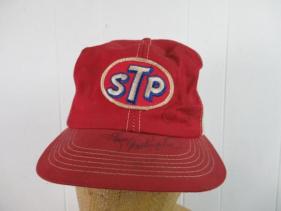 Vintage hat, STP hat, snapback hat, 1980s trucker