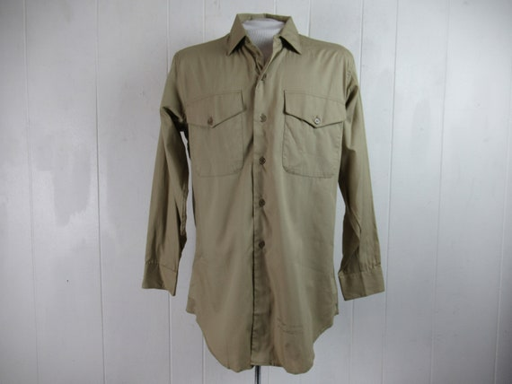 VINTAGE SHIRT, work shirt, button down shirt, 1960