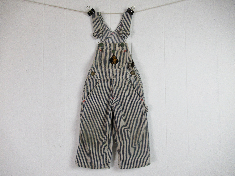 Vintage Overalls & Jumpsuits Childs Vintage 1940S Overalls, Buck Brand Clothing, Denim Workwear $0.00 AT vintagedancer.com