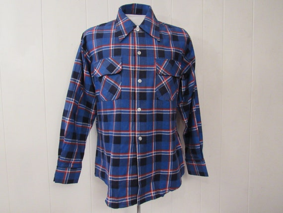 Vintage shirt, cotton flannel shirt, plaid shirt,