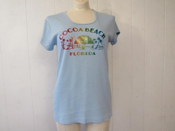 vintage t shirt, 1970s t shirt, Cocoa Beach Florid