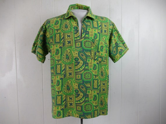 Vintage shirt, Hawaiian shirt, 1960s shirt, crazy