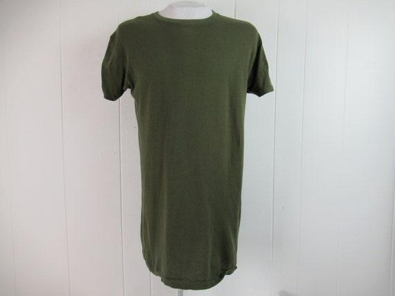 Vintage t shirt, U.S.M.C. t shirt, green t shirt,