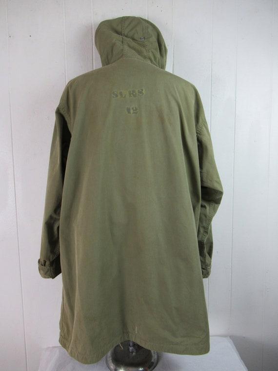 Vintage parka, 1940s jacket, WWII reversible jack… - image 5