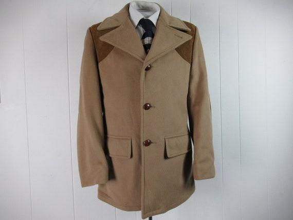 Vintage jacket, western jacket, wool and leather,