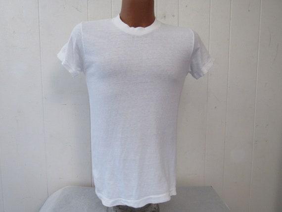 Vintage t shirt, 1960s t shirt, plain t shirt, Kma