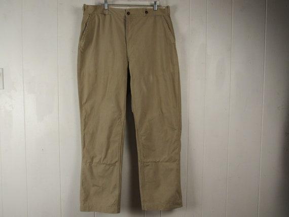 Vintage hunting pants, cotton pants, 1960s pants,
