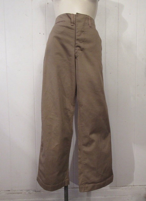 Vintage pants, high waisted pants, khaki pants, co