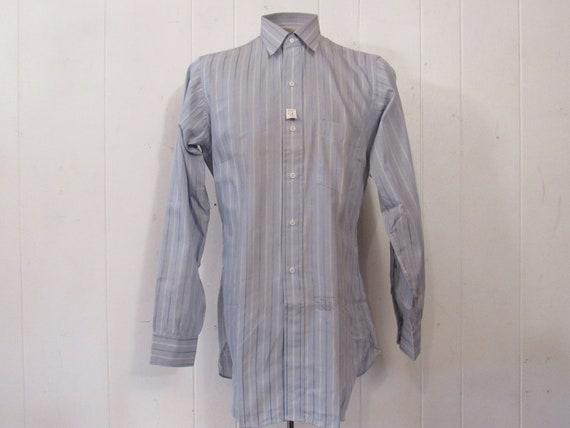 Vintage shirt, 1940s shirt, cotton shirt, button u
