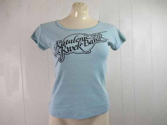 Vintage t shirt, 1970s t shirt, band t shirt, wome