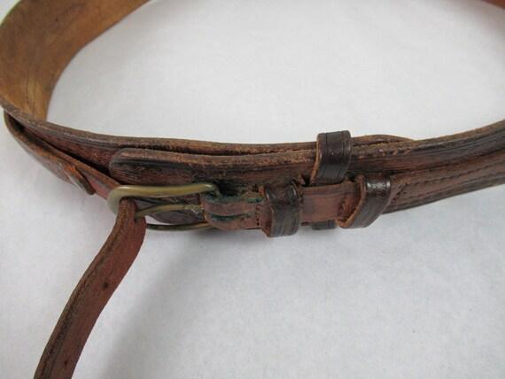 Vintage belt, 1940s belt, cowboy belt, western be… - image 4