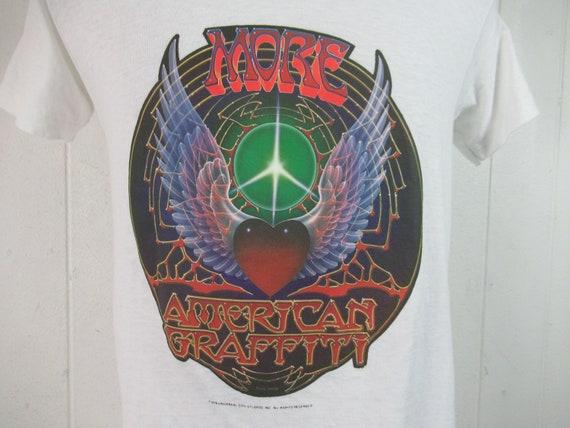 Vintage t shirt, More American graffiti t shirt, m