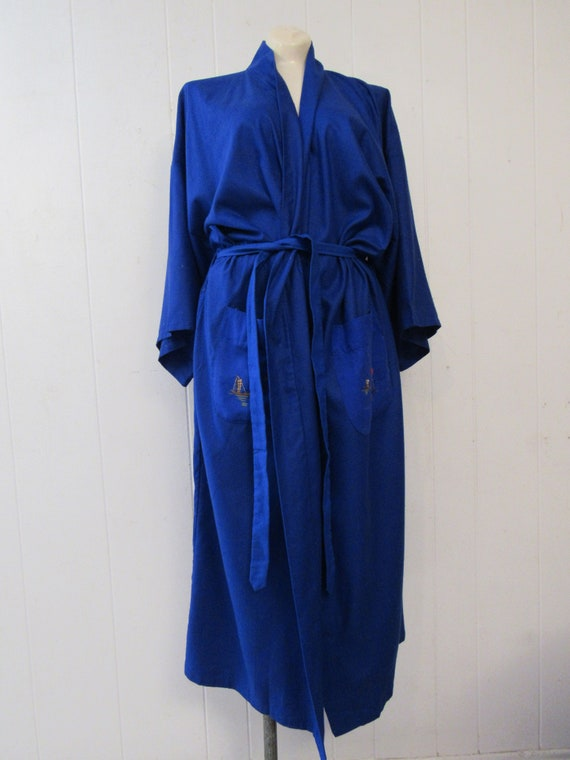 Vintage robe, Asian robe, silk robe, embroidered … - image 6