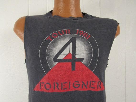 Vintage t shirt, band t shirt, 1980s t shirt, Fore