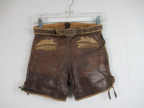 Vintage shorts, leather shorts, lederhosen, 1950s