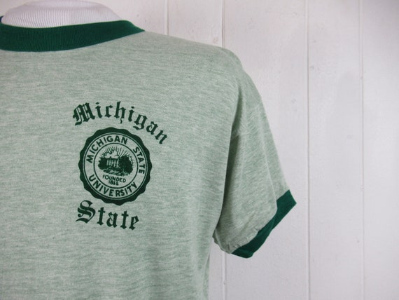 Vintage t shirt, Michigan State t shirt, MSU t shi
