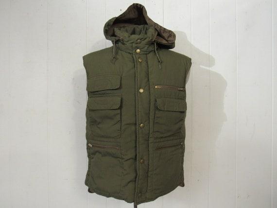 Vintage vest,  down vest, fishing vest, storable h