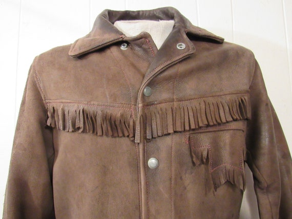 Vintage jacket, leather jacket, fringe jacket, we… - image 2