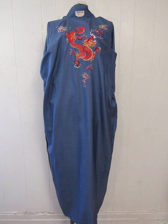 Vintage robe, Asian robe, silk robe, embroidered … - image 7