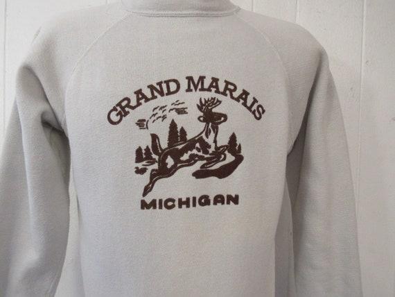 Vintage sweatshirt, 1950s sweatshirt, Grand Marais