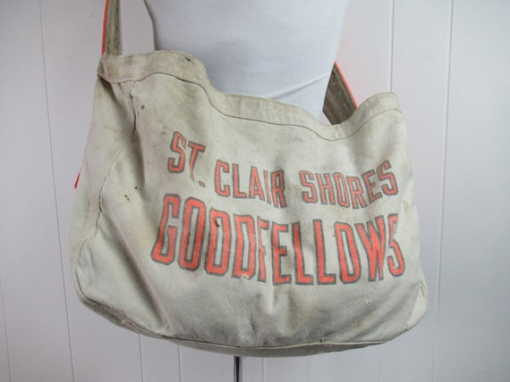 Vintage bag, newspaper bag, Goodfellows bag, St. C