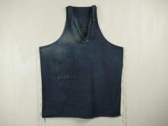 Vintage apron, denim apron, 1960s apron, work apro