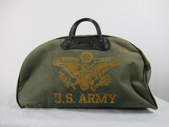 Vintage bag, U.S. Army bag, vintage duffel bag, U.