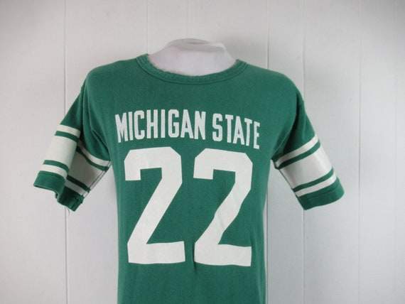 Vintage t shirt, MSU t shirt, 1970s t shirt, Michi