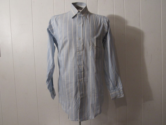 Vintage shirt, 1940s shirt, cotton shirt, button u