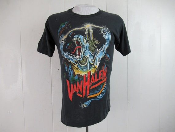 Vintage t shirt, Van Halen t shirt, 1980s t shirt,
