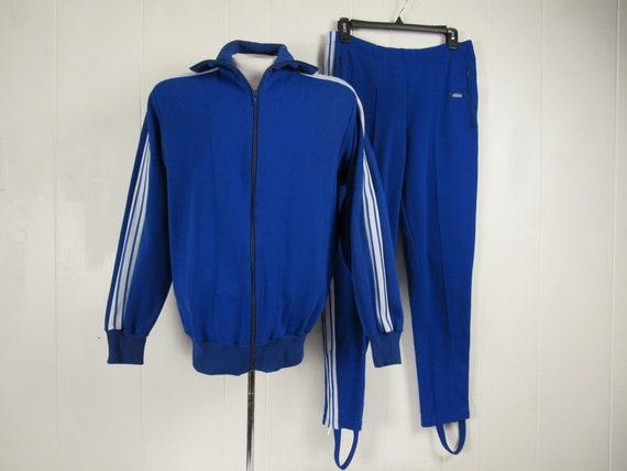Vintage track suit, 1970s track suit, Adidas track