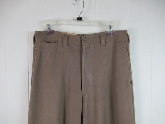 Vintage pants, 1940s pants, Army pants, pinks, mil