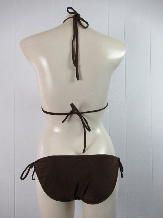 Vintage swimsuit, 1970s bikini, spaghetti strap b… - image 5