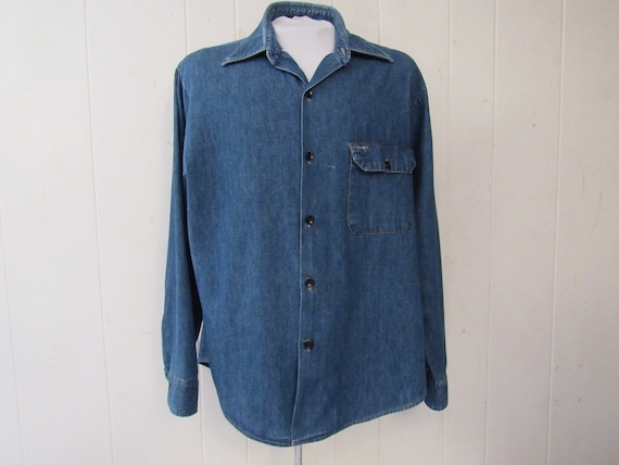 Vintage shirt, denim shirt, 1960s shirt, selvedge