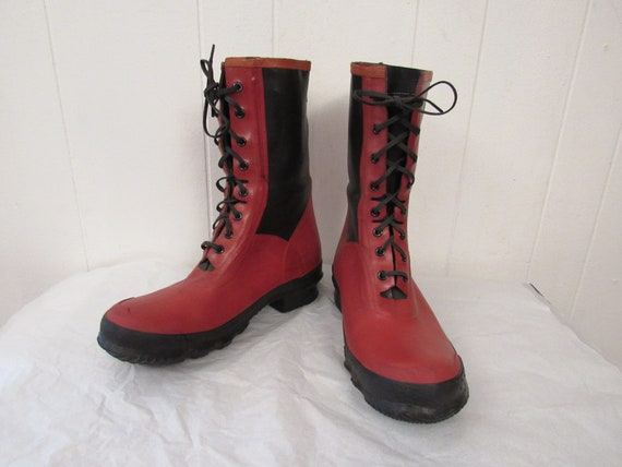 Vintage boots, hunting boots, B.F. Goodrich boots,