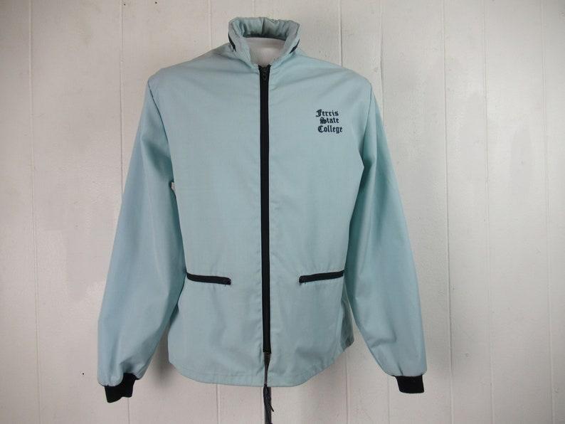 Vintage jacket vintage clothing Ferris State jacket college jacket size small vintage windbreaker