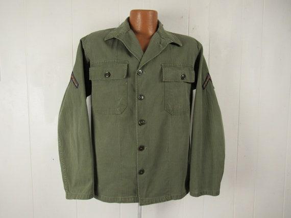 Vintage jacket, Army jacket, 1950s jacket, shirt j