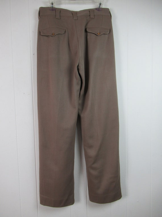 Vintage pants, 1940s pants, Army pants, pinks, mi… - image 4