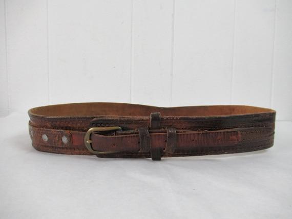 Vintage belt, 1940s belt, cowboy belt, western be… - image 2