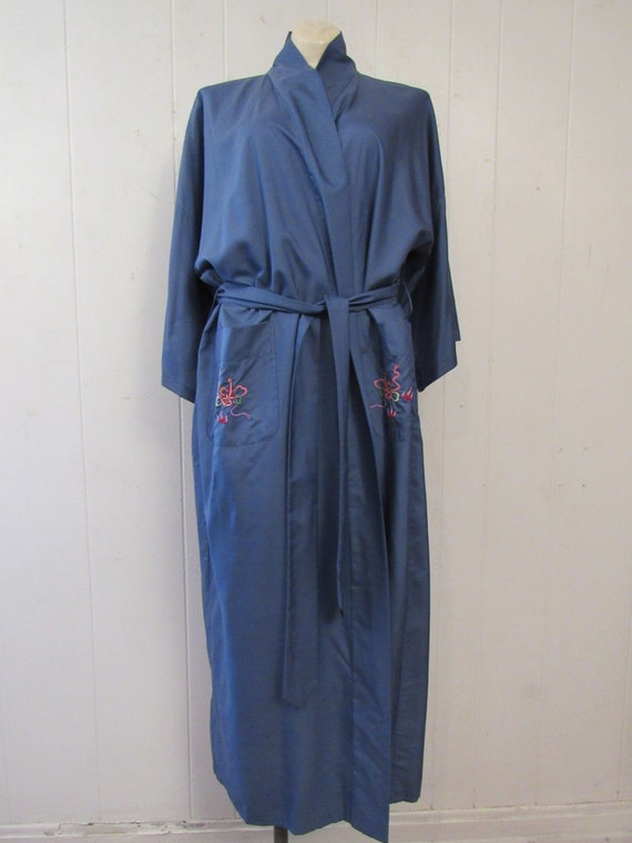Vintage robe, Asian robe, silk robe, embroidered … - image 4