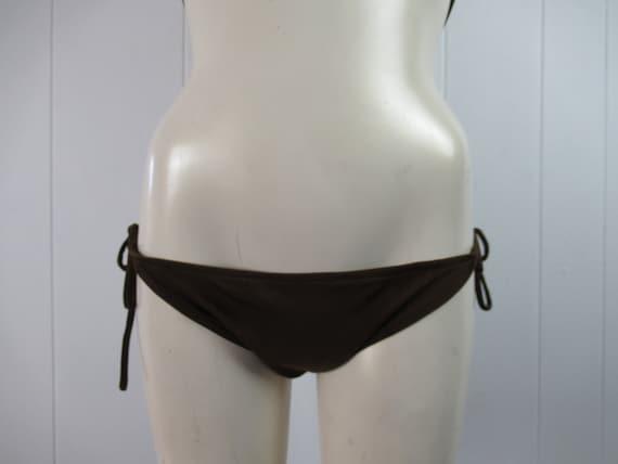 Vintage swimsuit, 1970s bikini, spaghetti strap b… - image 3